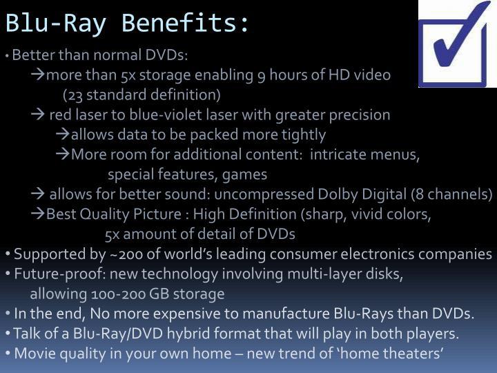 Blu-Ray Benefits: