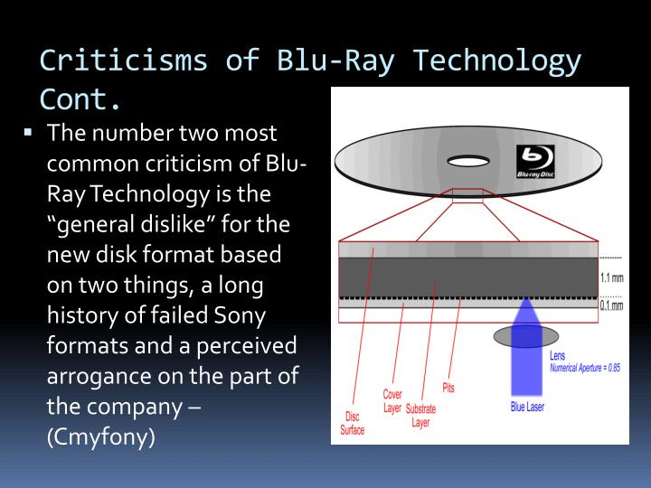 Criticisms of Blu-Ray Technology Cont.