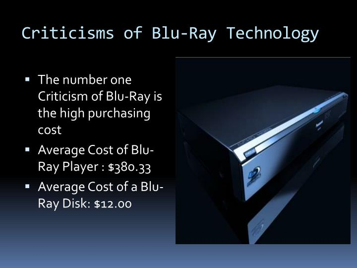 Criticisms of blu ray technology