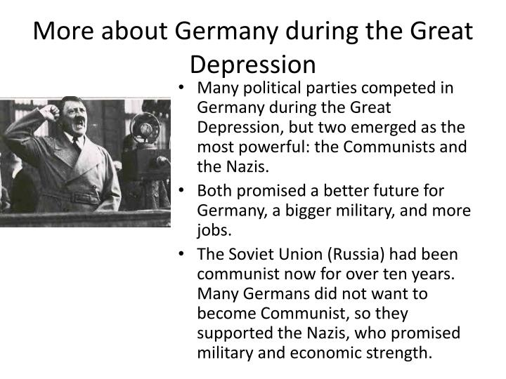 More about Germany during the Great Depression