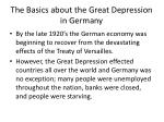 the basics about the great depression in germany