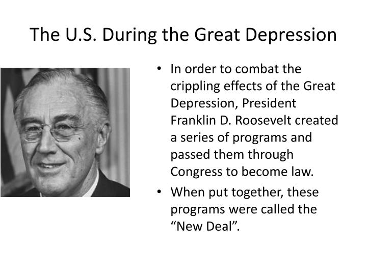 The U.S. During the Great Depression