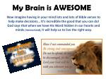 my brain is awesome4