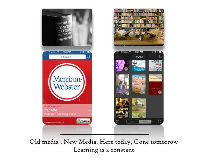 Old media , New Media. Here today, Gone tomorrow
