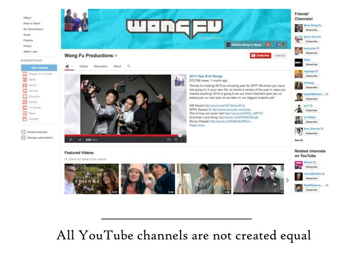 All YouTube channels are not created equal
