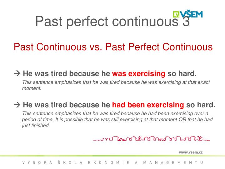 Past perfect continuous 3