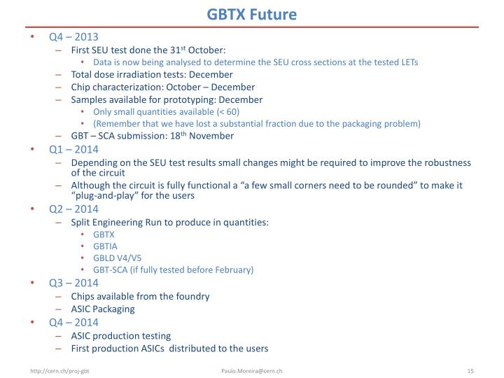 GBTX Future
