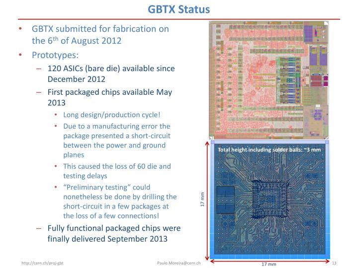 GBTX Status