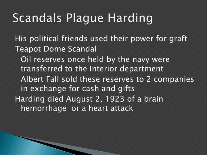 Scandals Plague Harding