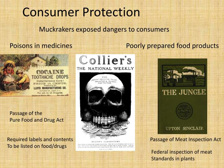 Muckrakers exposed dangers to consumers