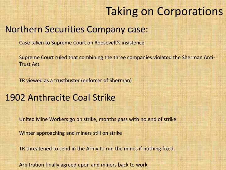Northern Securities Company case: