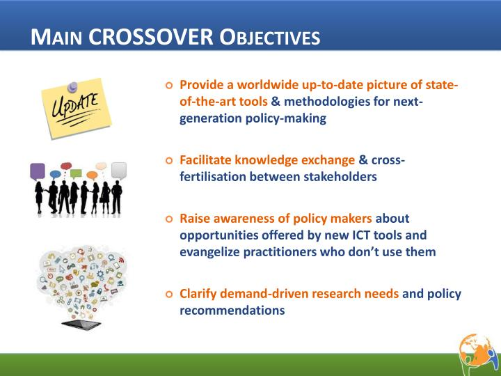 Main CROSSOVER Objectives