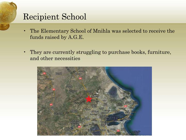 Recipient School