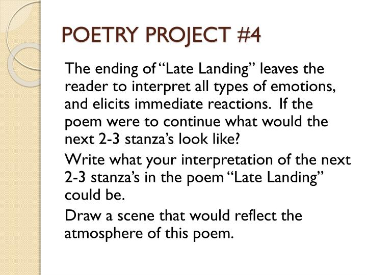 POETRY PROJECT #4