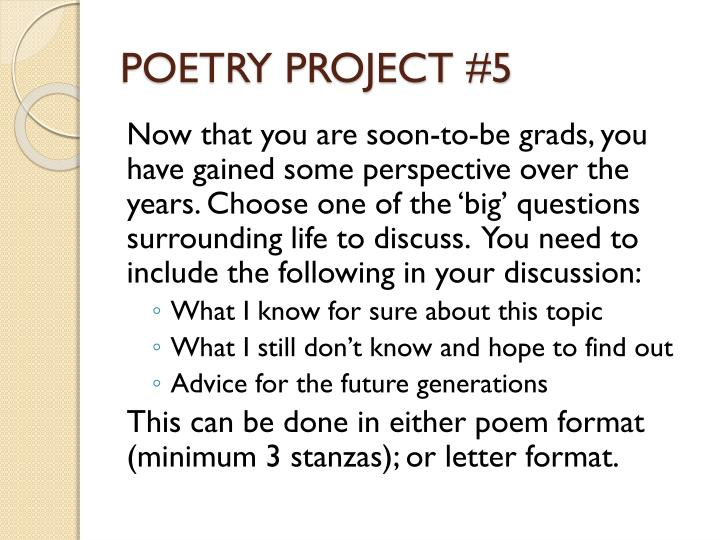 POETRY PROJECT #5