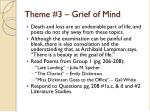 theme 3 grief of mind