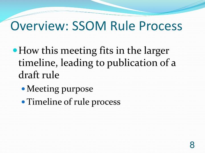 Overview: SSOM Rule Process