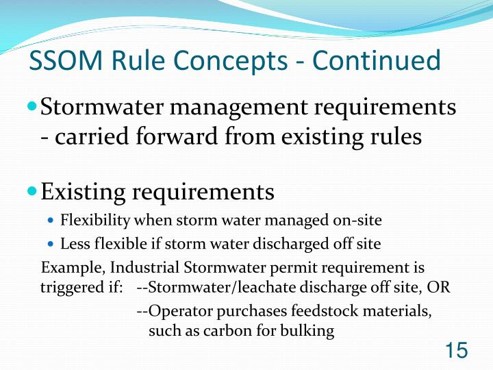 SSOM Rule Concepts - Continued