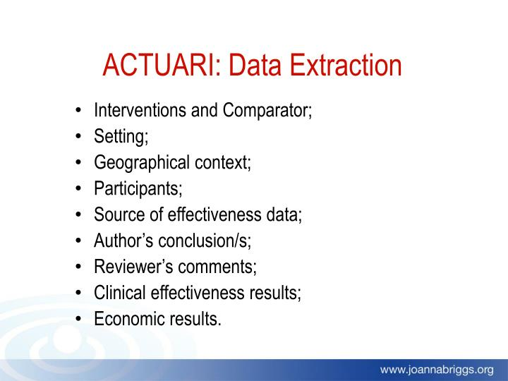 ACTUARI: Data Extraction
