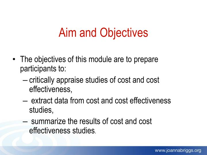 Aim and Objectives