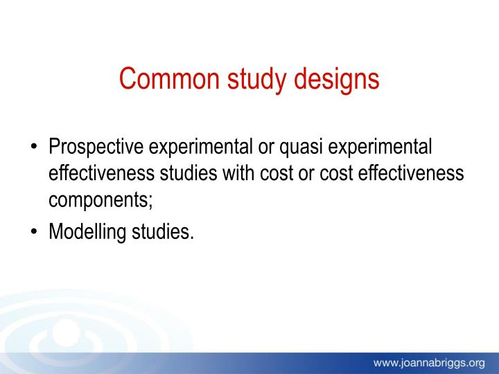 Common study designs