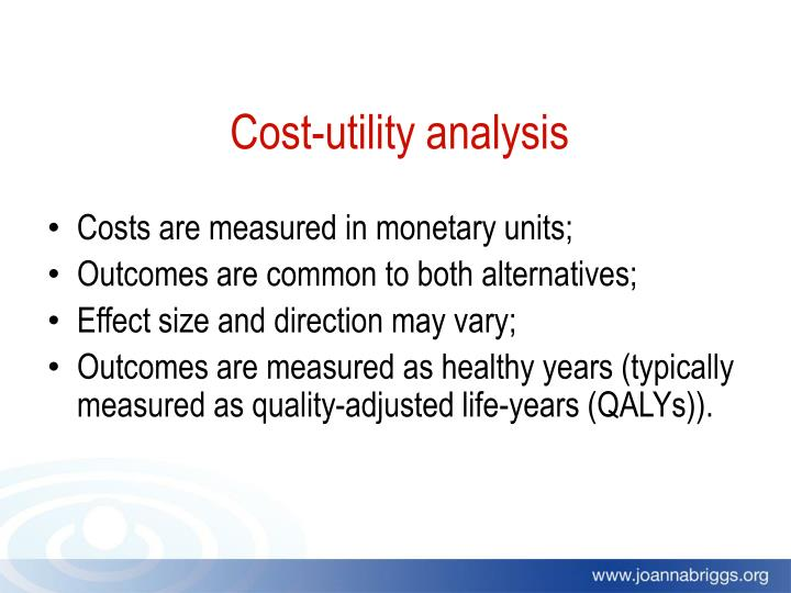 Cost-utility analysis