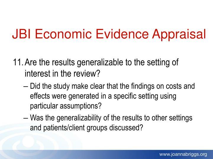 JBI Economic Evidence Appraisal