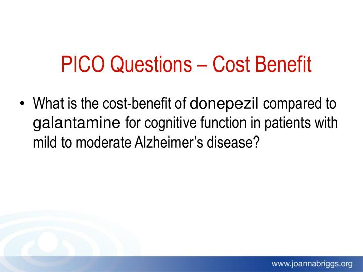 PICO Questions – Cost Benefit