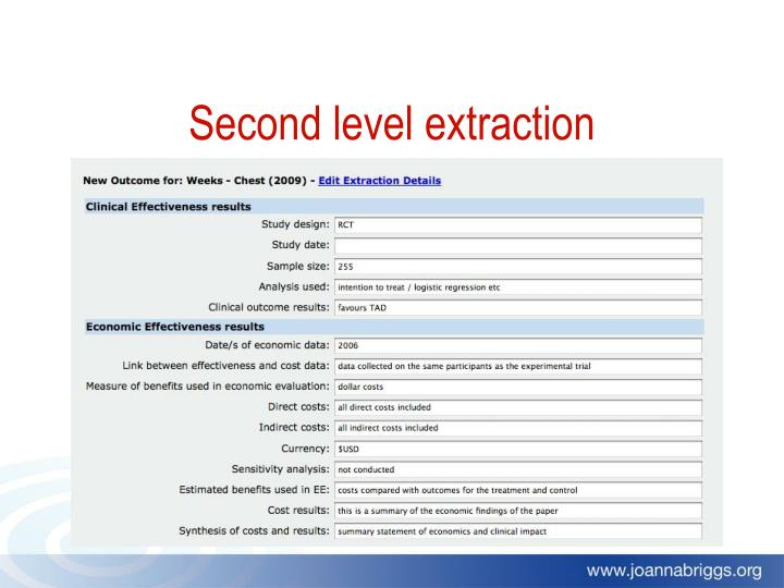 Second level extraction