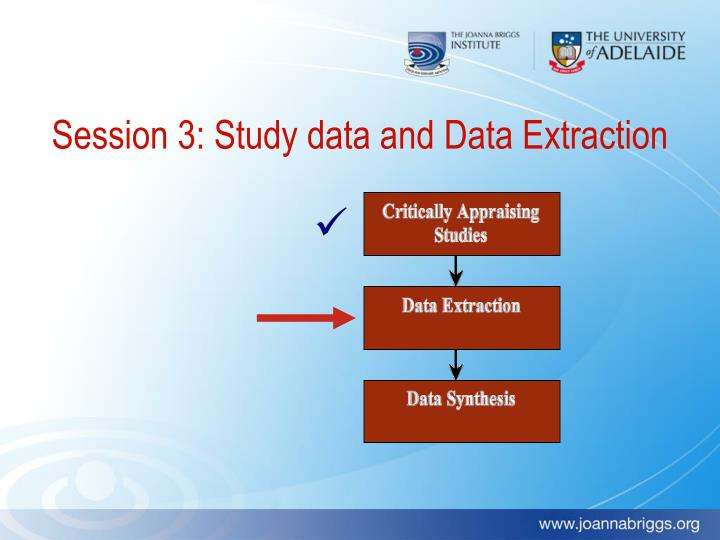 Session 3: Study data and Data Extraction