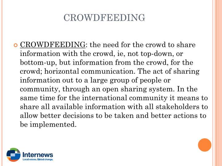 CROWDFEEDING