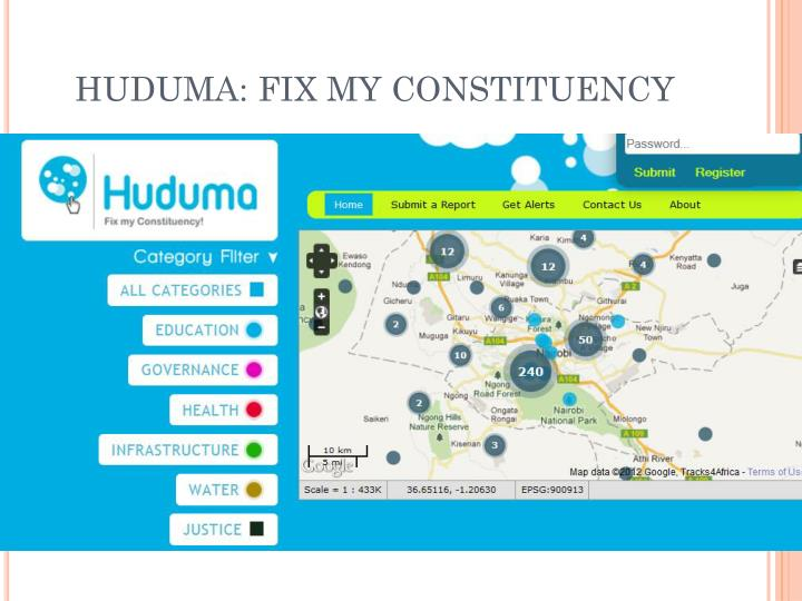 HUDUMA: FIX MY CONSTITUENCY