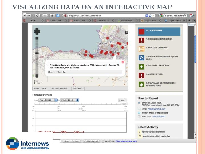VISUALIZING DATA ON AN INTERACTIVE MAP