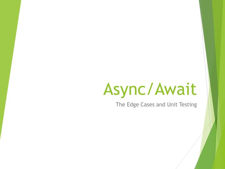 Async await