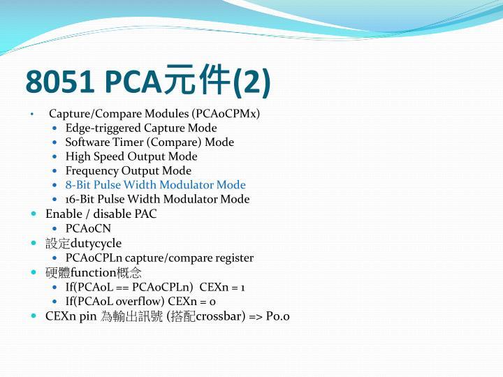 8051 PCA