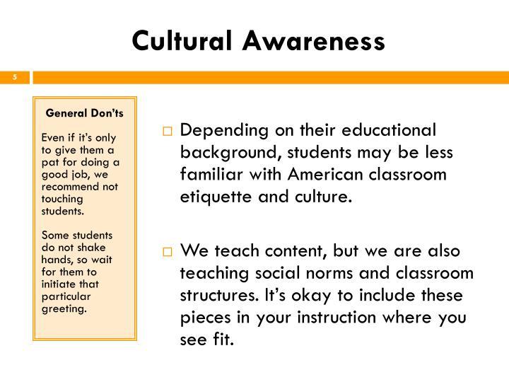 Cultural Awareness