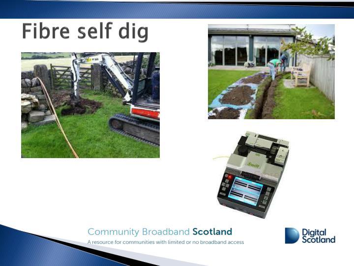 Fibre self dig