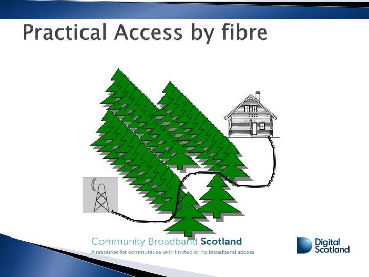 Practical Access by fibre