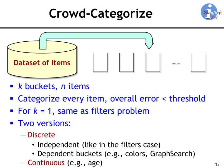 Crowd-Categorize