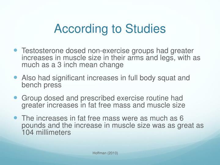 According to Studies