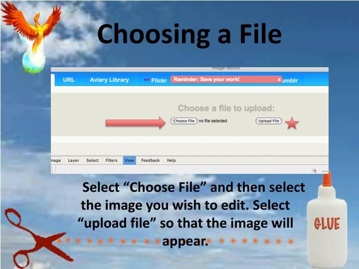 Choosing a File