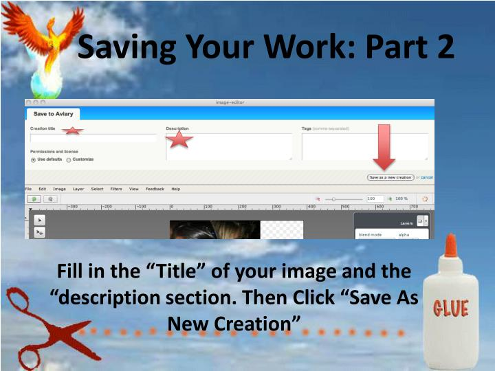 Saving Your Work: Part 2