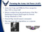 forming the army air force aaf