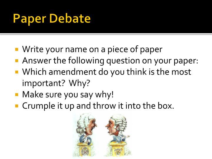 Paper Debate