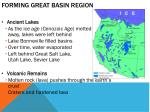 forming great basin region