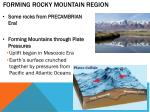forming rocky mountain region