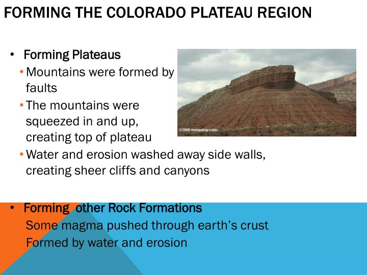 Forming the Colorado Plateau Region