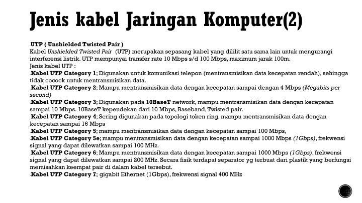 Jenis kabel Jaringan Komputer(2)