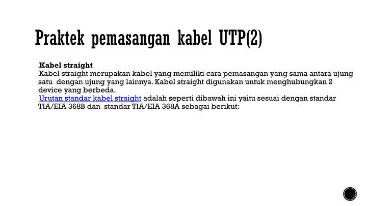 Praktek pemasangan kabel UTP(2)