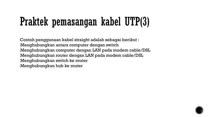 Praktek pemasangan kabel UTP(3)